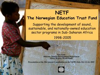 NETF  The Norwegian Education Trust Fund