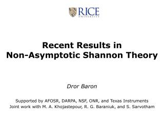 Recent Results in  Non-Asymptotic Shannon Theory
