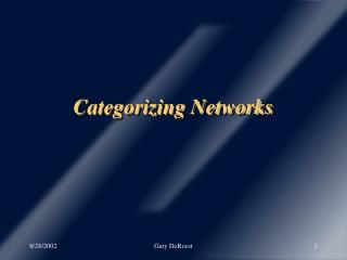 Categorizing Networks