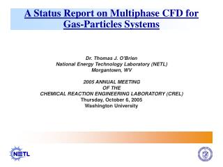 A Status Report on Multiphase CFD for Gas-Particles Systems