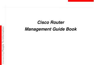Cisco Router  Management Guide Book