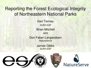 Reporting the Forest Ecological Integrity of Northeastern National Parks
