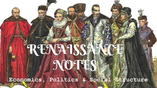 Political Structure in the Renaissance