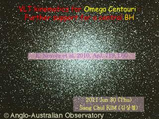 VLT kinematics for  Omega Centauri  : Further support for a central  BH