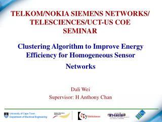 TELKOM/NOKIA SIEMENS NETWORKS/ TELESCIENCES/UCT-US COE  SEMINAR