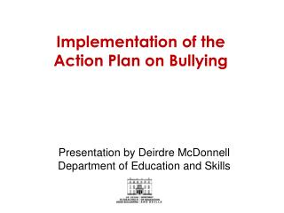 Implementation of the  Action Plan on Bullying