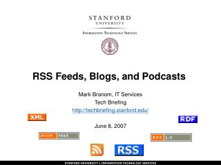 RSS Feeds, Blogs, and Podcasts