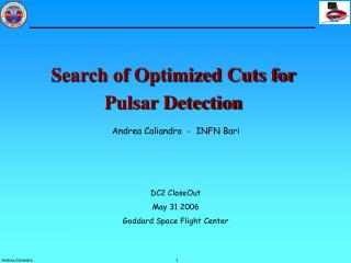 Search of Optimized Cuts for Pulsar Detection