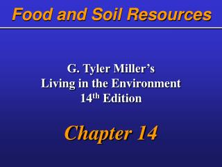 Food and Soil Resources