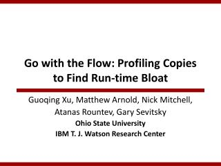 Go with the Flow: Profiling Copies to Find Run-time Bloat