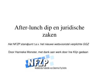 After-lunch dip en juridische zaken