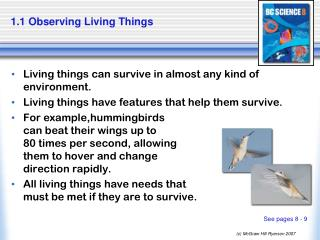 1.1 Observing Living Things