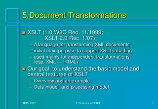 5 Document Transformations