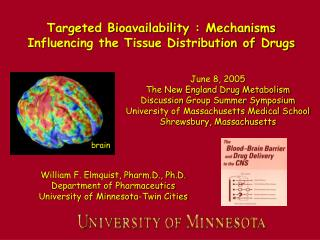Targeted Bioavailability : Mechanisms Influencing the Tissue Distribution of Drugs