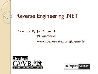 Reverse Engineering .NET