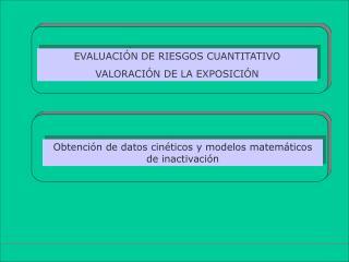 Obtención de datos cinéticos y modelos matemáticos de inactivación