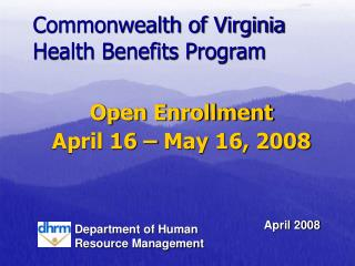 Commonwealth of Virginia Health Benefits Program