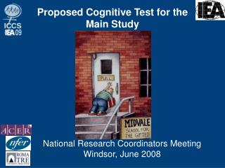 Proposed Cognitive Test for the Main Study