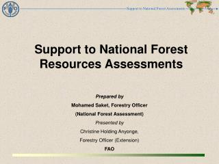 Support  to National Forest Resources Assessments