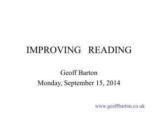 IMPROVING   READING