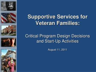 Supportive  Services for Veteran Families: