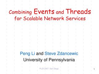 Combining  Events  and  Threads  for Scalable Network Services