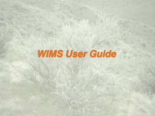 WIMS User Guide