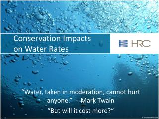Conservation Impacts on Water Rates
