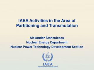 IAEA Activities in the Area of  Partitioning and Transmutation