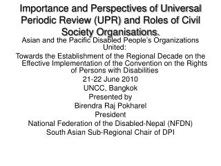 Asian and the Pacific Disabled People's Organizations United: