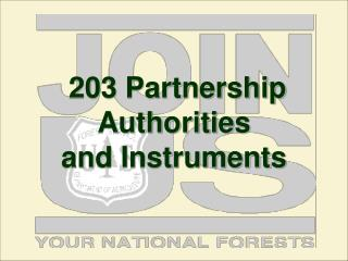 203 Partnership Authorities  and Instruments