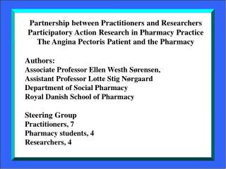 Partnership between Practitioners and Researchers