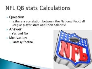 NFL QB stats Calculations
