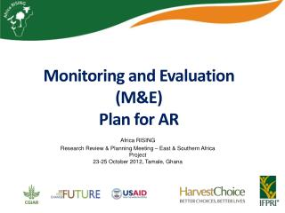 Monitoring and Evaluation (M&E)  Plan for AR