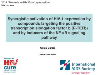 "2014  "" Towards an HIV Cure ""  symposium Melbourne"