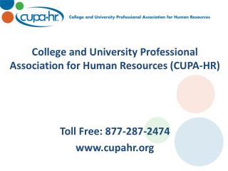 College and University Professional Association for Human Resources (CUPA-HR)