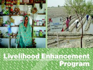 Livelihood Enhancement Program  (ON Farm)