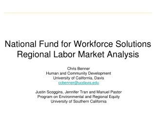 National Fund for Workforce Solutions Regional Labor Market Analysis