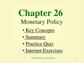 Chapter 26 Monetary Policy