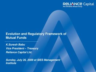 Evolution and Regulatory Framework of Mutual Funds