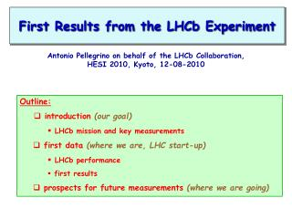 First Results from the  LHCb  Experiment