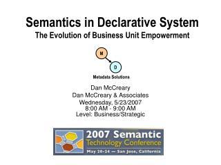 Semantics in Declarative System The Evolution of Business Unit Empowerment