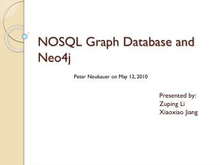 NOSQL Graph Database and Neo4j