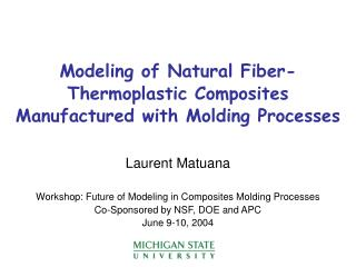 Modeling of Natural Fiber-Thermoplastic Composites Manufactured with Molding Processes