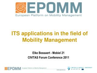 ITS applications in the field of Mobility Management