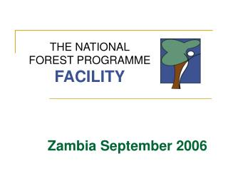 THE NATIONAL FOREST PROGRAMME FACILITY