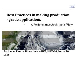 Best Practices in making production - grade applications