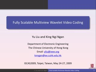 Fully Scalable Multiview Wavelet Video Coding