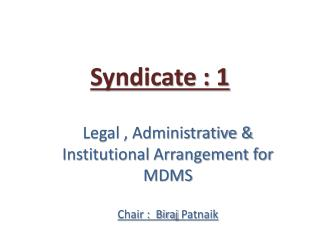 Syndicate : 1