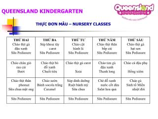 QUEENSLAND KINDERGARTEN